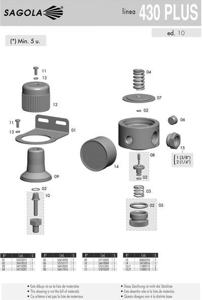 Regulador presión de aire 430 PLUS