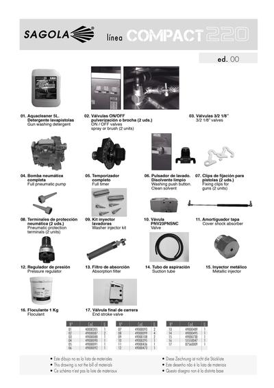 Lavadora de pistolas sagola COMPACT 220