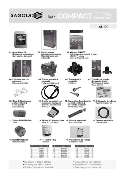 Lavadora de pistolas sagola COMPACT 235