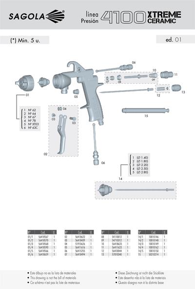 Pistola presion 4100 xtreme ceramic