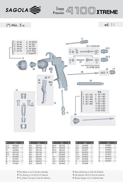 Pistola 4100 XTREME Presión