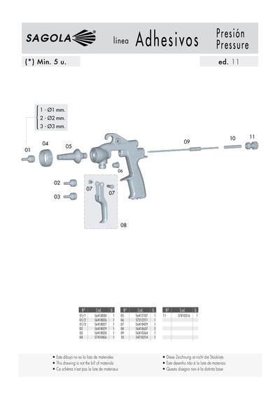 Pistola productos adhesivos