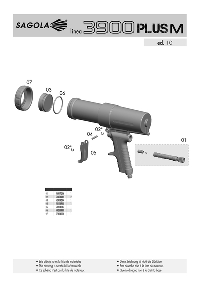Pistola selladora 3900 PLUS M