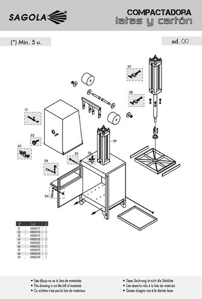 Prensa Compactadora de cartón y latas