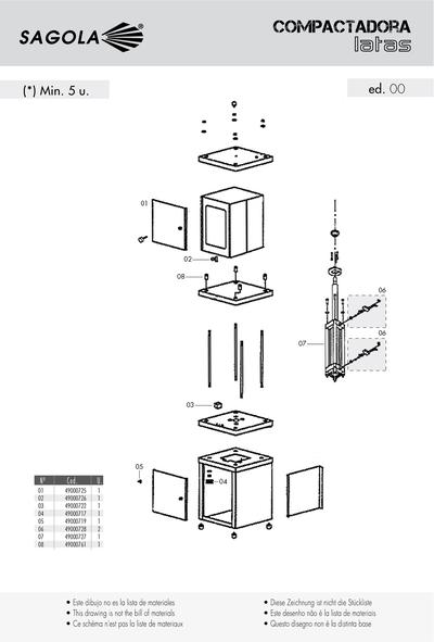 Prensa compactadora de latas