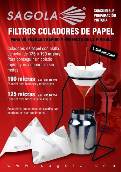 Filtros coladores de papel