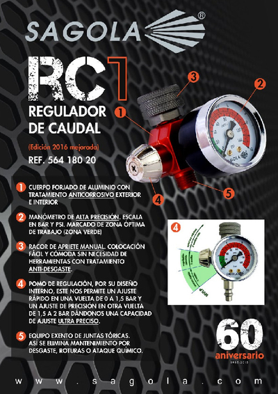 Regulador caudal aire RC1