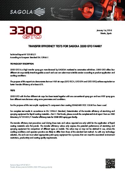 Test d'efficacité de transfert 3300 GTO