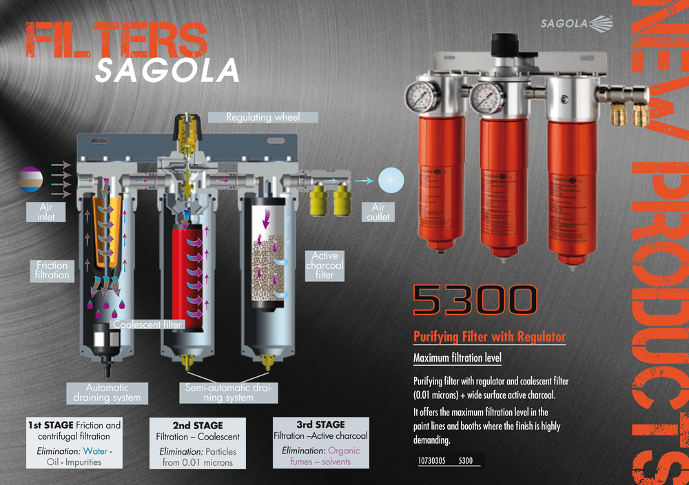 SAGOLA keeps reinforcing its compromise with the compressed air filtration solutions, inside the spraybooth.