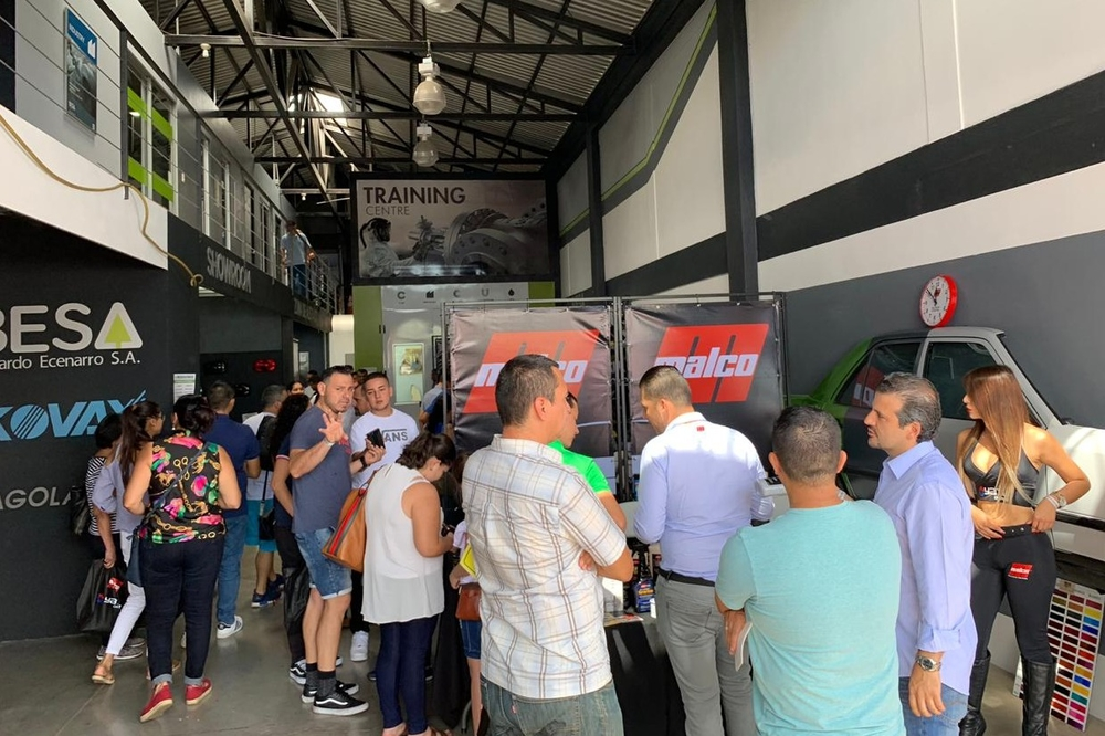 Sagola at the Comercializadora Automotriz 4J Automotive exhibition in Costa Rica