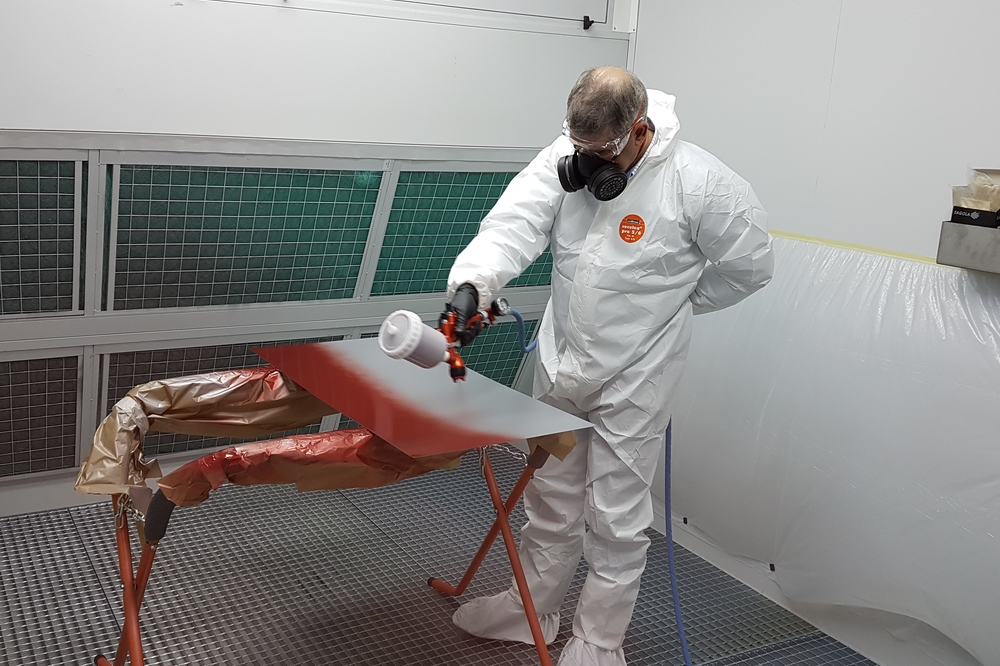 Nueva cabina de pintado en nuestro centro de formación
