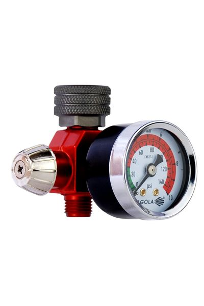 Flow regulator with pressure gauge RC1