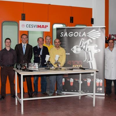 4100 GTO presentation in CESVIMAP crash-test and reparation center