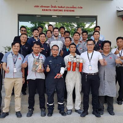 Formación en Axalta Tailandia y Malasia