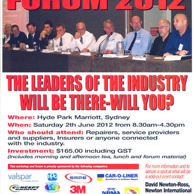 INDUSTRY FORUM 2012, AUSTRALIA – SAGOLA WILL BE THERE, WILL YOU?