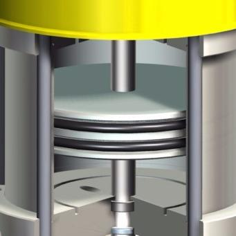 PNEUMATIC AREA SHAFT GROUND AND CHROMIUM-PLATED