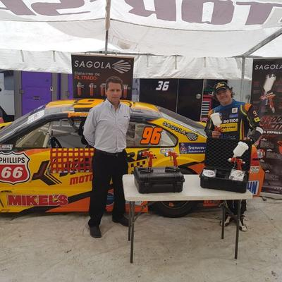 Sagola with the NASCAR Mexico