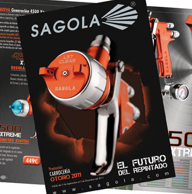 Launch of New brochure the promotion of new products sagola for this Autumn.